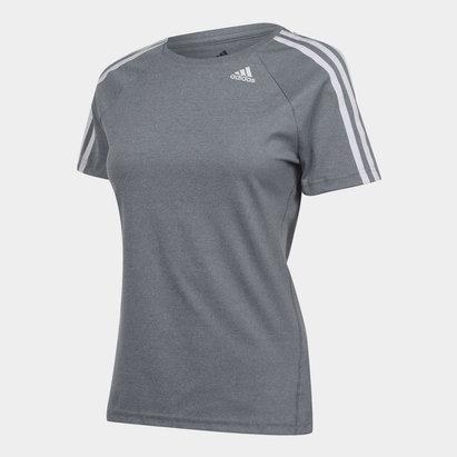 adidas 3 Stripe T Shirt Ladies