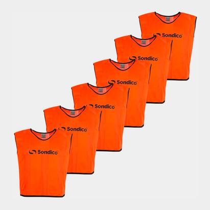 Sondico 6 Pack Mesh Hi Viz Training Bibs
