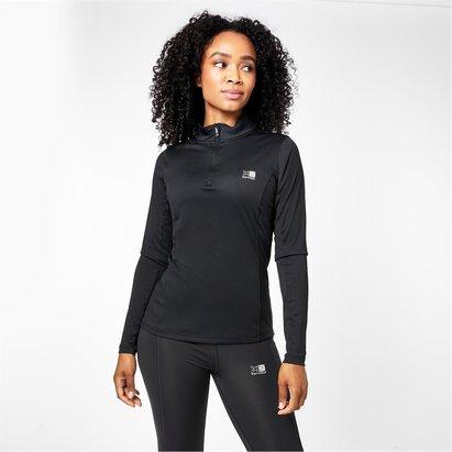 Karrimor 1/4 Zip Ladies Running Long Sleeve Top
