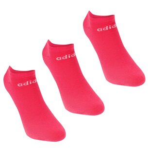 adidas No Show 3 Pack Trainer Socks Ladies