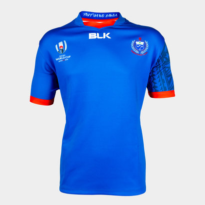 BLK Samoa RWC 2019 Home S/S Kids Replica Shirt