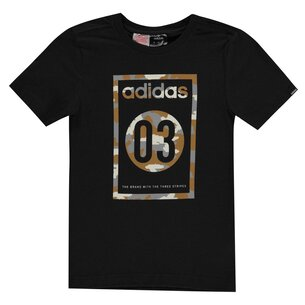 adidas 03 Camo QT T Shirt Junior Boys