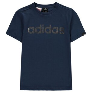 adidas Linear Foil T Shirt Junior Boys