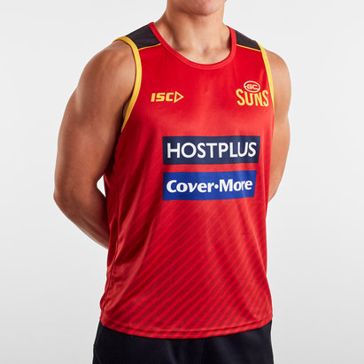 ISC Gold Coast Suns 2020 AFL Players Training Singlet