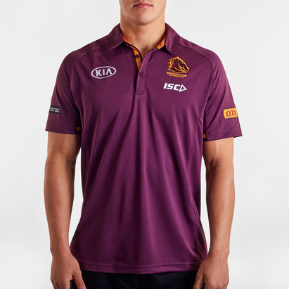 ISC Brisbane Broncos NRL 2020 Players Rugby Polo Shirt