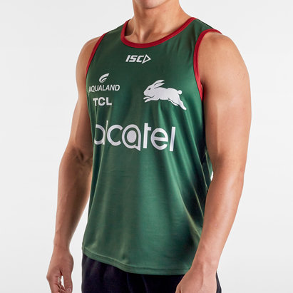 ISC South Sydney Rabbitohs NRL 2020 Players Rugby Training Singlet