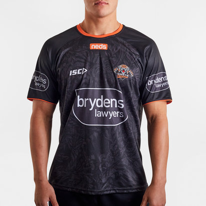 ISC Wests Tigers NRL 2020 Players Rugby Training T-Shirt