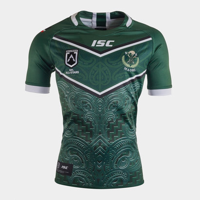 ISC New Zealand Maori All Stars 2020 NRL S/S Rugby Shirt