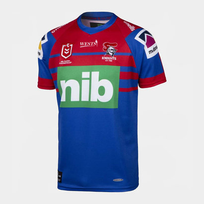 O'Neills Newcastle Knights 2020 NRL Kids Home S/S Rugby Shirt