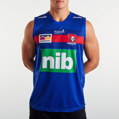 O'Neills Newcastle Knights 2020 NRL Players Rugby Training Singlet