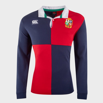 Canterbury B&I Lions Supporters L/S Quartered Cotton Jersey Mens