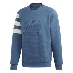 adidas New Zealand All Blacks Mens Luxury Crew Neck Sweatshirt