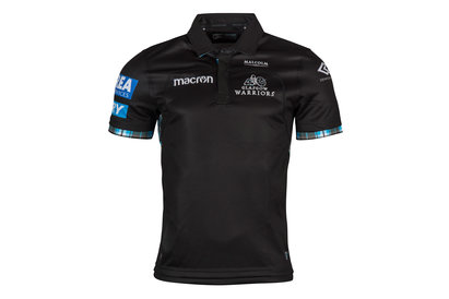6cab5a297 Macron Glasgow Warriors 2017 18 Home S S Replica Rugby Shirt