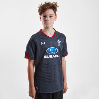 Under Armour Wales WRU 2018/19 Kids Alternate S/S Rugby Shirt
