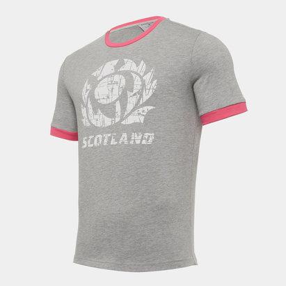 Macron Scotland T Shirt Mens