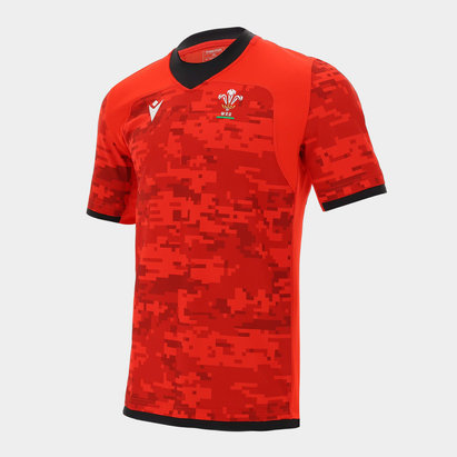 Macron Wales Training Shirt Mens