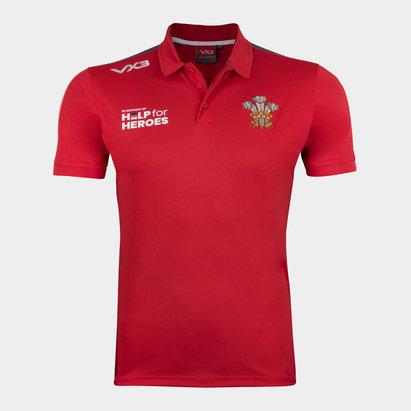 VX-3 Help 4 Heroes Wales Polo Shirt Mens