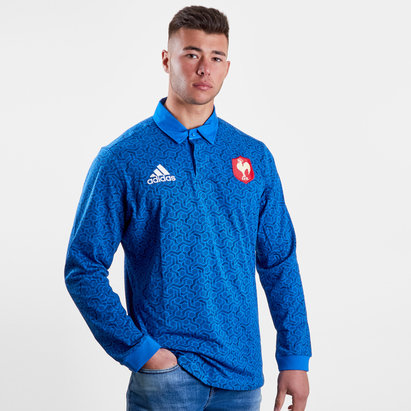 adidas France 2018 Supporters L/S Rugby Shirt