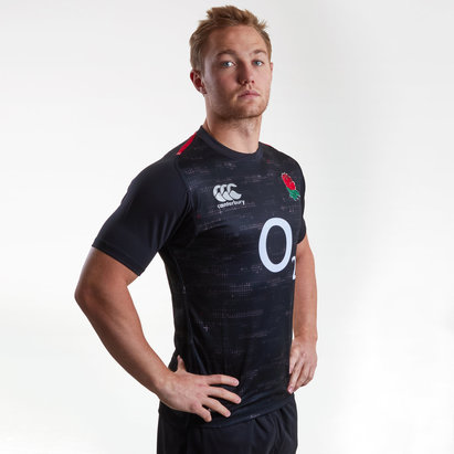 Canterbury England 2018/19 Alternate S/S Players Test Rugby Shirt
