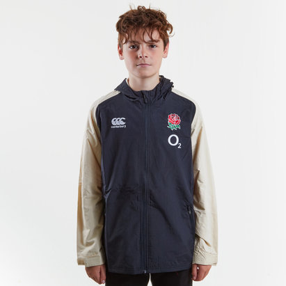 Canterbury England 2018/19 Kids Full Zip All Weather Rugby Jacket