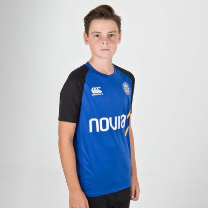 Canterbury Mens Bath 2018//19 Superlight Rugby Training T-Shirt Blue Top Sports