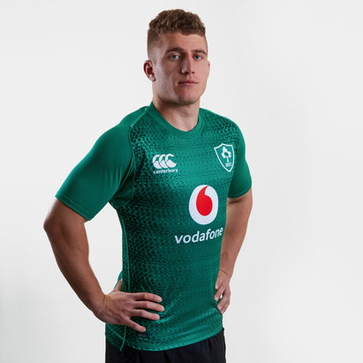 Canterbury Ireland IRFU 2018/19 Home Players Test S/S Rugby Shirt