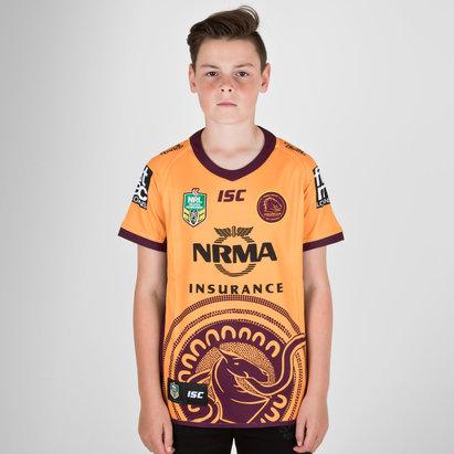 ISC Brisbane Broncos NRL 2018 Kids Indigenous S/S Rugby Shirt