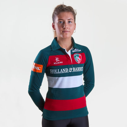 Kukri Leicester Tigers 2018/19 Home Ladies L/S Classic Shirt