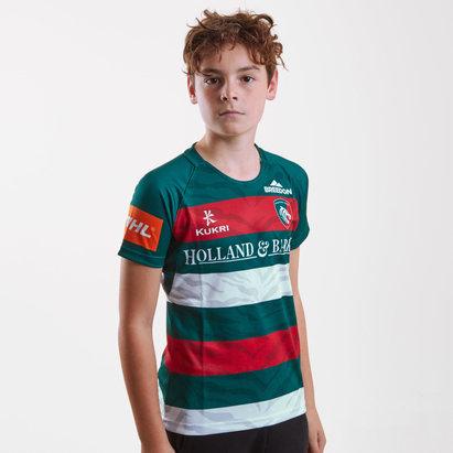 Kukri Leicester Tigers 2018/19 Home Kids Replica Shirt