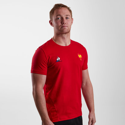 Le Coq Sportif France 18/19 Players Rugby Training T-Shirt