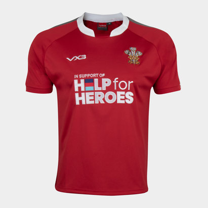 VX-3 Help 4 Heroes Wales Short Sleeve Jersey Juniors