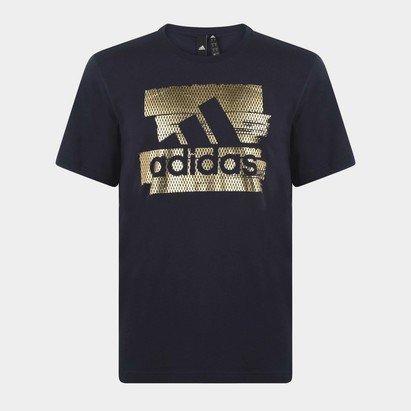 adidas BOS Foil Logo T Shirt Mens