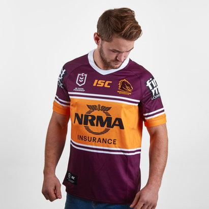 ISC Brisbane Broncos NRL 2019 Home S/S Rugby Shirt