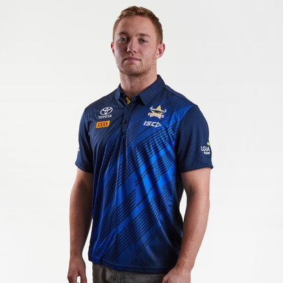 ISC North Queensland Cowboys NRL 2019 Players Rugby Polo Shirt