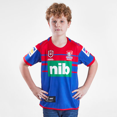 ISC Newcastle Knights NRL 2019 Kids Home S/S Rugby Shirt