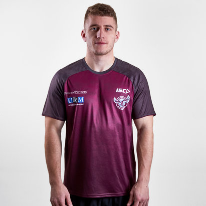 ISC Manly Sea Eagles 2019 NRL Players Rugby Training T-Shirt