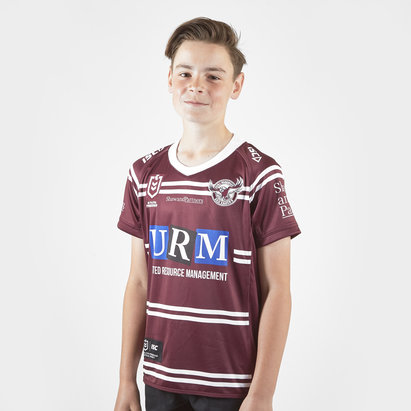 ISC Manly Sea Eagles 2019 NRL Kids Home S/S Rugby Shirt