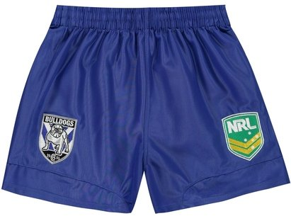 ISC Canterbury Bulldogs NRL Kids Supporters Rugby Shorts