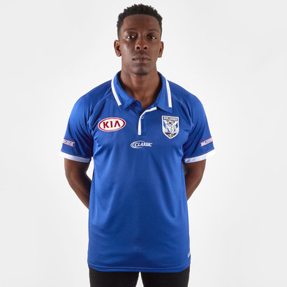 Classic Sportswear Canterbury Bulldogs 2019 NRL Players Media Rugby Polo Shirt