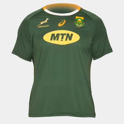 Asics South Africa Springboks 2019/20 Home Supporters Rugby T-Shirt