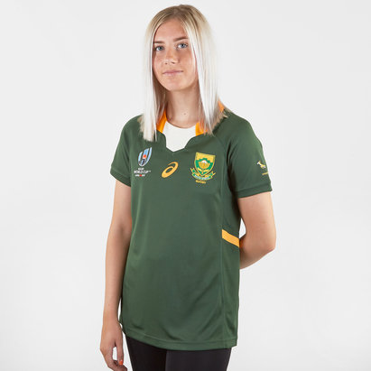 Asics South Africa Springboks RWC 2019 Ladies Home S/S Replica Rugby Shirt
