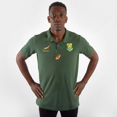 Asics South Africa Springboks RWC 2019 Players Media Rugby Polo Shirt