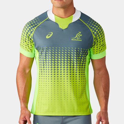 Asics Australia Wallabies 2019/20 Players S/S Match Day Rugby Training Shirt
