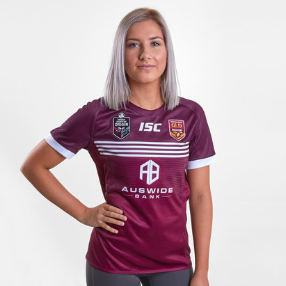 c78633137 ISC Queensland Maroons State of Origin 2019 Ladies S S Rugby League Jersey