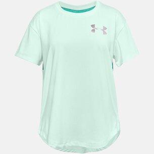 Under Armour Armour HeatGear Short Sleeve T Shirt Junior Girls