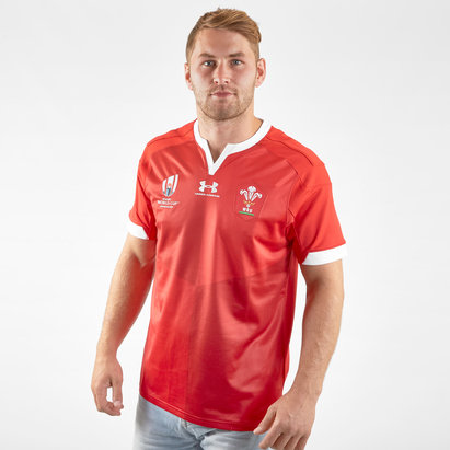 Under Armour Wales WRU RWC 2019 Home S/S Replica Rugby Shirt