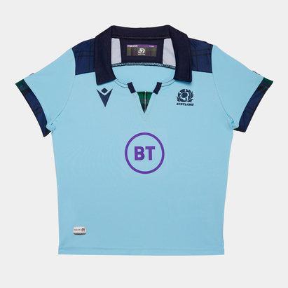 Macron Scotland 2019/20 Mini Kids Alternate S/S Replica Rugby Shirt