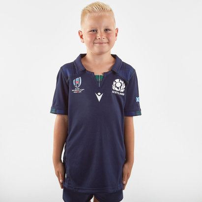 Macron Scotland RWC 2019 Kids Home S/S Replica Rugby Shirt