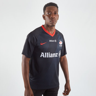 Nike Saracens 2019/20 Rugby Home Shirt Mens