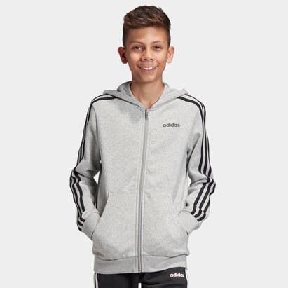 adidas Kids Full Zip Hooded Sweat